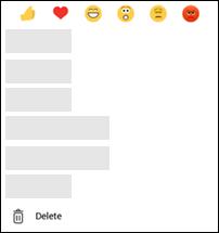 Menu de suppression du message Android