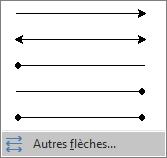 Cliquez sur Autres flèches au bas du menu Flèches.