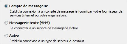 Outlook2010 - Ajouter un nouveau compte - Compte de messagerie
