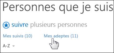 La Page Personnes sur un site personnel