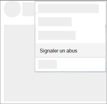 Capture d'écran de la façon de signaler comme indésirable dans OneDrive