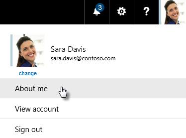 Profil Delve - Informations personnelles