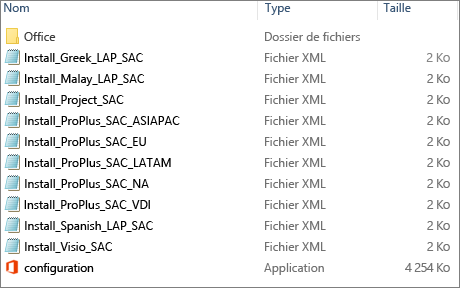 Emplacement source en ligne Office365