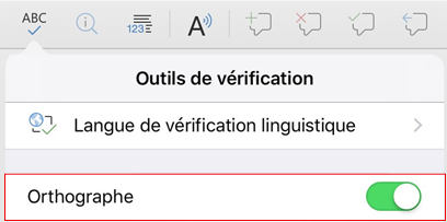 Activer l'orthographe