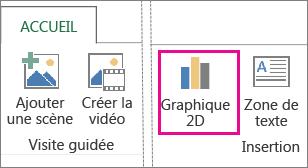 Bouton Graphique 2D sous l'onglet Accueil de Power Map