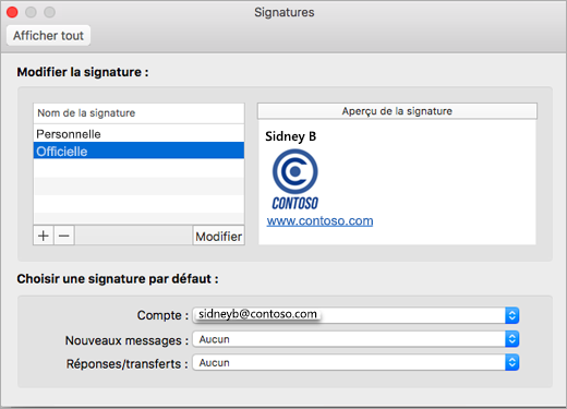 Page Signatures Des Prfrences Outlook