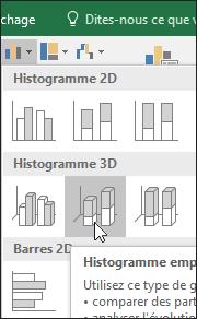 Histogramme empilé3D