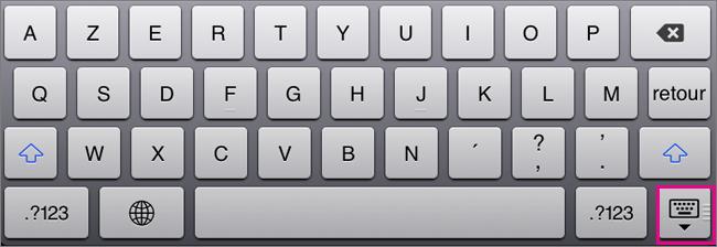 Masquer le clavier à l'écran