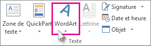 Cliquez pour ajouter un objet WordArt
