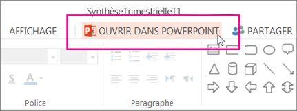 Ouvrir dans l'application de bureau PowerPoint
