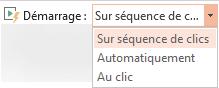 Les options de lecture d'une vidéo à partir de votre PC sont les suivantes: avec une séquence de clics, automatiquement ou lorsque vous cliquez dessus