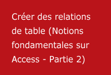 Créer des relations de table (Notions fondamentales sur Access - Partie 2)