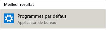 Programmes par défaut dans Windows