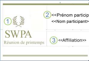 Étiquette nom balise composition avec des champs