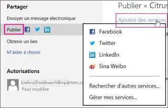 Publier votre présentation sur un réseau social