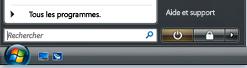 Bouton Démarrer et zone de recherche dans Windows Vista