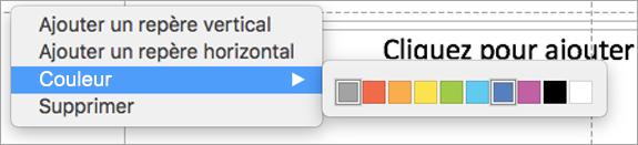 Utilisez des repères multicolores pour créer une présentation parfaite.