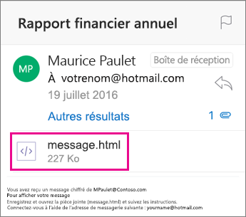 Visionneuse OME pour Outlook pour iOS 1