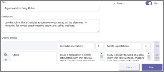 Créer une nouvelle grille d'évaluation