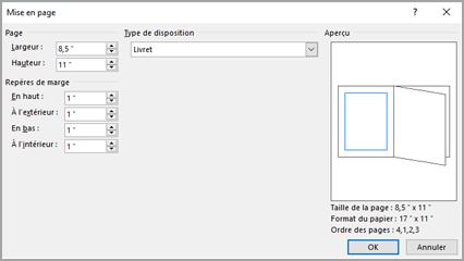 Configurer et imprimer une brochure au format lettre ou un - Comment faire une brochure sur open office ...