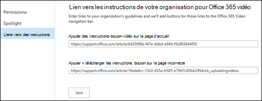 Instructions vidéo Office 365