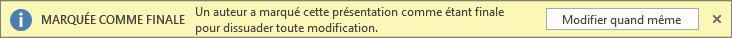Boîte de dialogue Modifier quand même dans PowerPoint