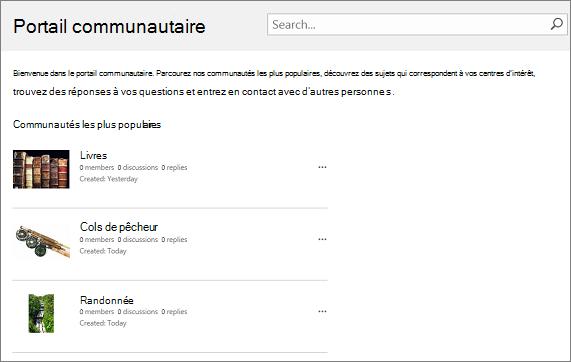 Exemple de portail communautaire