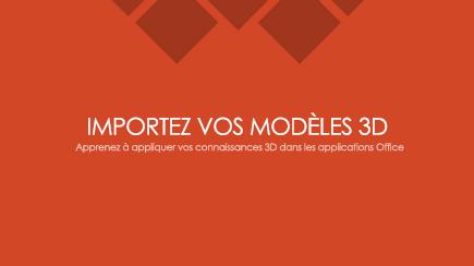 Capture d'une diapositive de titre de modèle 3D PowerPoint