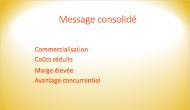 Exemple d'arrière-plan de diapositive qui utilise un dégradé de couleur
