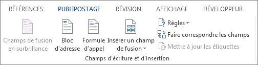 Groupe Champs d'écriture et d'insertion