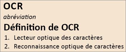 Vue d'ensemble de la reconnaissance optique des caractères