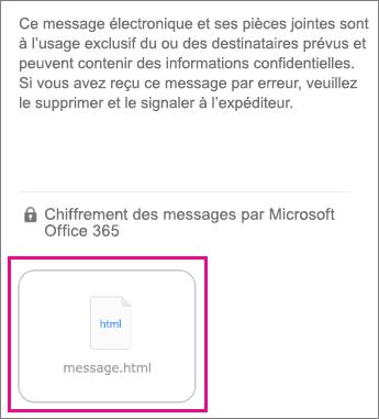 Visionneuse OME pour iOS 1 l'application de messagerie