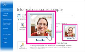 Modifier mon image pour Office dans Outlook
