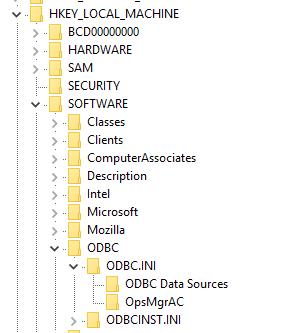 ODBC. Sous-clé INI