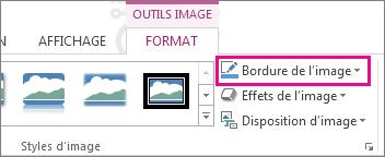 Commande Bordure de l'image dans l'onglet Outils Image - Mise en forme