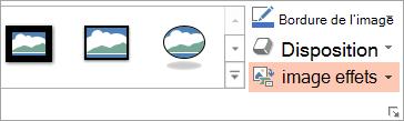 Bouton de la disposition d'images sous l'onglet Format