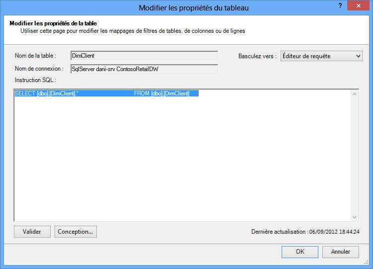 Requête SQL utilisant la syntaxe par défaut, plus courte