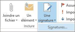 Commande Signature