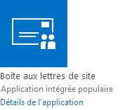 Application Boîte aux lettres de site