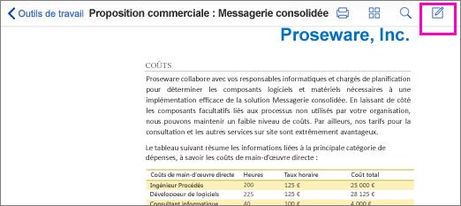 Outil de création de marques de révision dans un fichier PDF