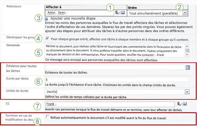 Seconde page du formulaire d'association avec des numéros
