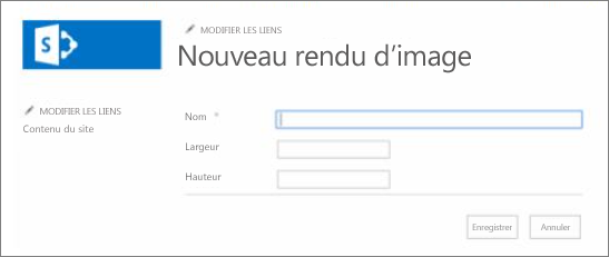 Capture d'écran du nom d'un rendu d'image