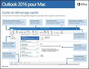 Guide de démarrage rapide d'Outlook2016 pour Mac