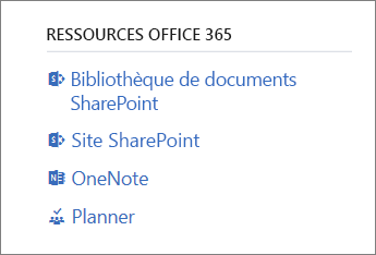 Ressources Office 365