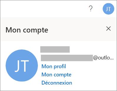Présente l'option Se déconnecter pour Office pour le web