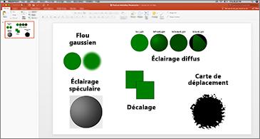 Diapositive contenant des exemples de filtres SVG