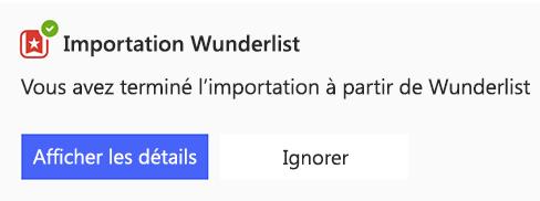Capture d'écran de l'invite d'affichage des détails ou d'abandon dans l'affichage de liste de to-do.