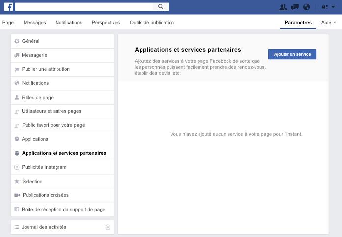 Volet partenaire applications et Services