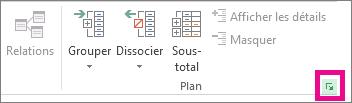 Dans le groupe Plan, cliquez sur le lanceur de la boîte de dialogue