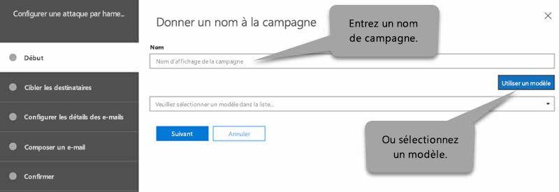 Page de démarrage de phishing